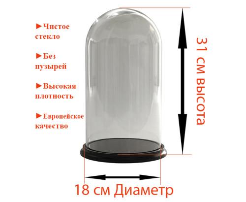Стеклянная колба 31 на 18 см