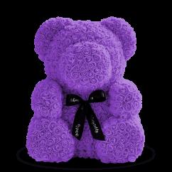 Medved' iz fioletovyh roz 70 sm
