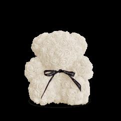 Медведь из белых роз 25 см