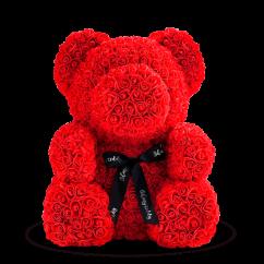 Медведь из красных роз 70 см