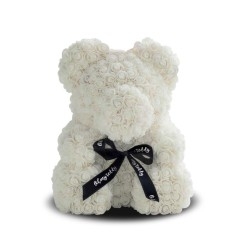 Medved' iz belykh roz 40 sm