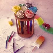 Набор для покраски роз в пробирках