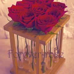 9 роз в пробирке